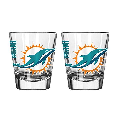 Boelter Brands NFL Miami Dolphins Spirit Shot Glass, 2-Ounce, 2-Pack