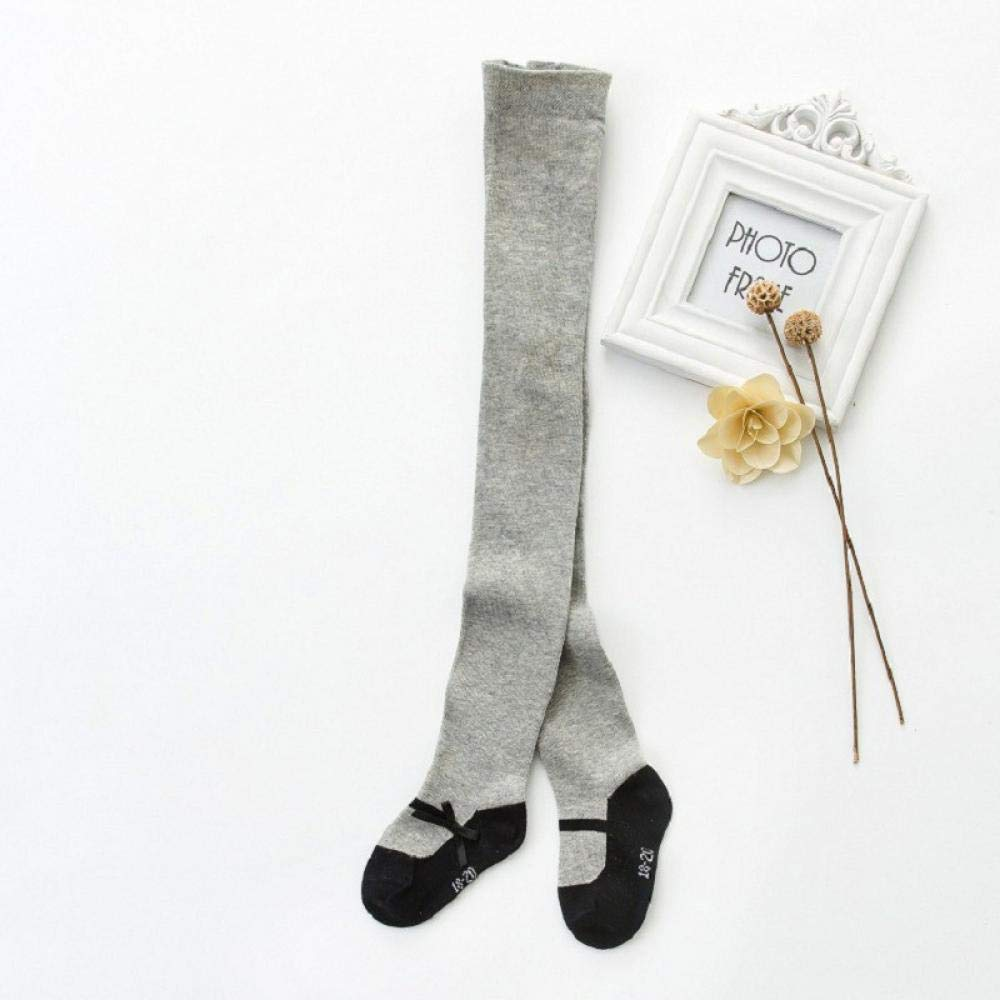 Spring Autumn Girl Tight Bowknot Kids Pantyhose Knitted Cotton Long Stocking