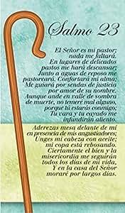 Cuadro de Coleccion madera - Salmo 23 - El Señor es mi