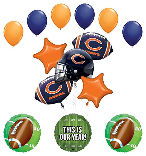 Mayflower Products Chicago Bears Football Party Supplies This is Our Year Balloon Bouquet Decoration ()