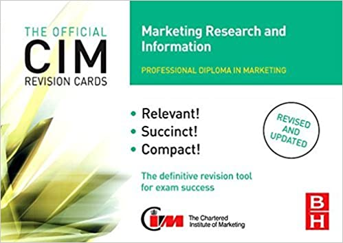 Cim Revision Cards Marketing Research And Information By John Williams 2006 11 08 Amazon Com Books
