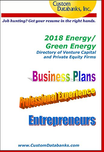 Amazon.com: 2018 Energy/Green Energy Directory of Venture Capital ...