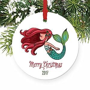 51X6BsDz4qL._SS300_ 100+ Mermaid Christmas Ornaments