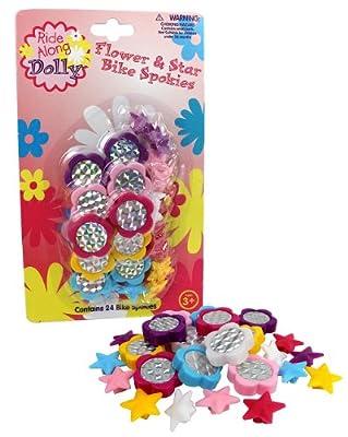 Bike Wheel Spokies - Ride Along Dolly Flower and Star Spoke Attachments (24 Pcs)