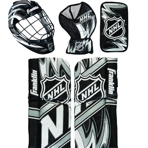 6 NHL Mini Hockey Goalie Equipment with Mask Set (Franklin Goalie Equipment)