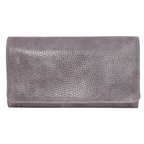 Latico Leathers Shelby Wallet Genuine Authentic Luxury Leather, Designer Made, Business Fashion and Casual Wear, Pebble Denim