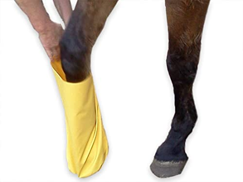 Steps to use the soaking boot for your horse