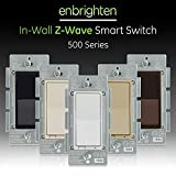 GE Enbrighten Z-Wave Plus Smart Light Switch, Works with Alexa, SmartThings, Wink, Zwave Hub Required, ON/Off Control, Repeater/Range Extender, 3-Way Compatible, White & Light Almond, 14291
