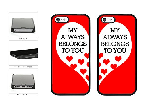 BleuReign(TM) Bff My Heart Belongs to You Plastic Phone Case Back Cover Apple iPhone 5 5s and iPhone SE