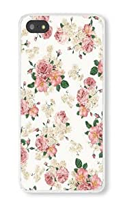 Iphone 5S Case Floral Cell Phone Case For Iphone 5S PC Transparent Phone Hard Case