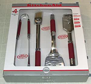 Amazon Com 4 Piece Kitchenaid Bbq Barbecue Tool Utensil