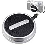 JJC Deluxe Nappa Leather Lens Cap Keeper Sticker with String for Fujifilm Fuji X100F X100T X100S X100 Lens Cap Anti-lost