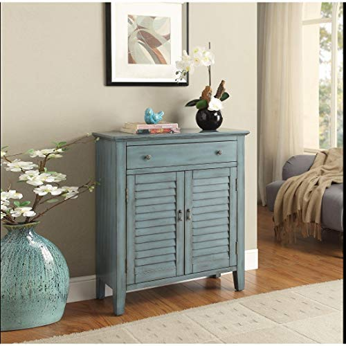 ACME Furniture Acme 97247 Winchell Console Table, Antique Blue, One ()