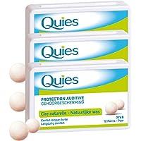 Quies – Bolas de protección auditiva de cera natural – lote de 3 cajas de 24 bolas (3)