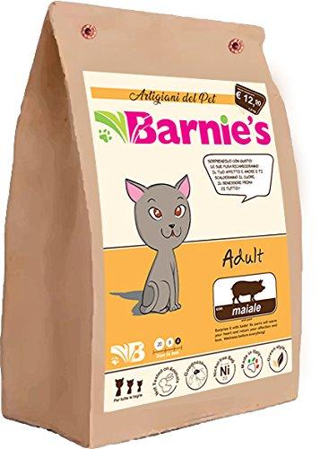 Barnies Adult Cat Pork 4 Kg Alimentazione Gatti Cibo Secco Gatti