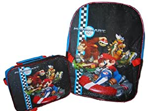 """Mario Brothers 16"""" Backpack with Detachable Lunch Kit"""