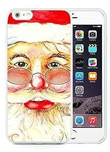 Diy Case Cover For Apple Iphone 4/4S Santa Claus christmas White Case Cover For Apple Iphone 4/4S PC Case 2