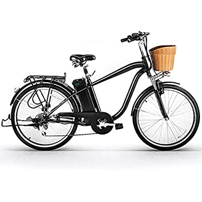NAKTO/SPARK 26'' City Electric Bicycle Ebike with 36V 10Ah Lithium Battery for Women