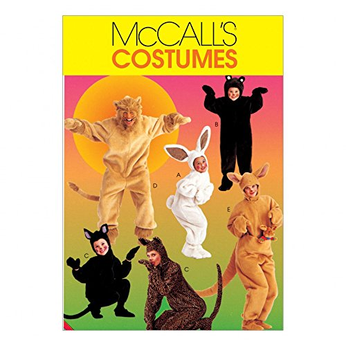 McCalls Adult & Childrens Easy Sewing Pattern 6106 Animal Onesie Costumes -