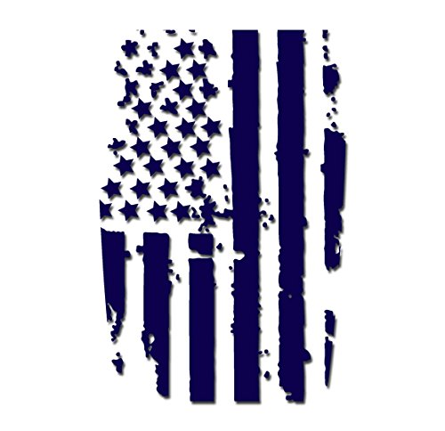 Tower Decals Dark Blue American Flag Hood Blackout Vinyl Graphic Decal No Outline Fits Jeep Wrangler TJ LJ YJ
