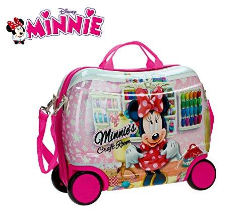 MWS3063 4751051 Trolley rígida cavalgable en ABS de Minnie Mouse 41x34x20 cm
