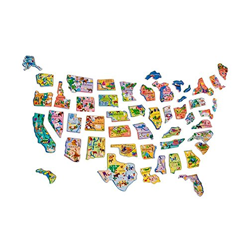 Amazoncom TS Shure Wooden Magnetic Map Of The USA Puzzle Toys - Magnetic us map puzzle janod