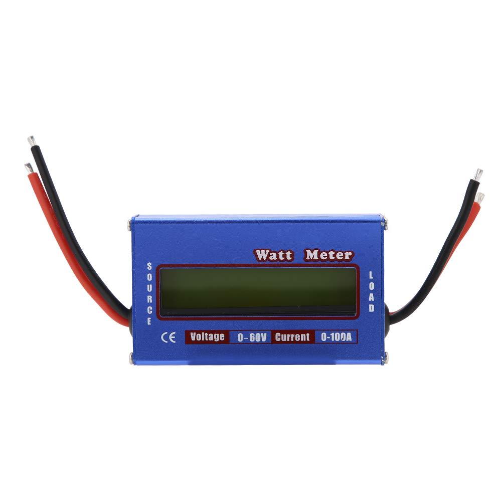 RC Digital 100A 60V Haute Precision Wattmetre Analyseur de Puissance Batterie Checker Balance Tension Consommation Moniteur de Performances avec Retro-/Éclairage Wattm/ètre