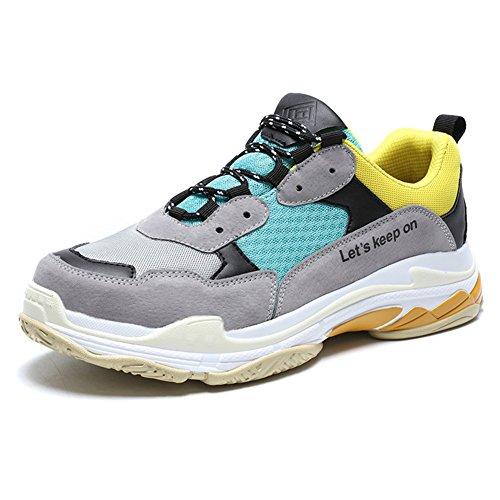 Mode De Chaussures Casual Homme Madaleno Entraînement Décontractée amp;jaunâtre Vert Sport Sports Baskets ITqn5