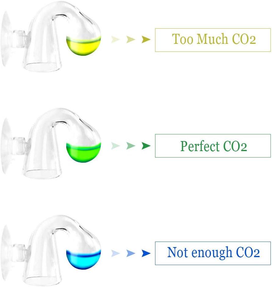 Yangfei 2 Pezzi Tester CO2 per Acquario Vetro di Controllo Goccia di CO2 Acquario per Monitor di Vetro a Gocce di CO2 Controllore di Caduta Vetro CO2 per Acquario