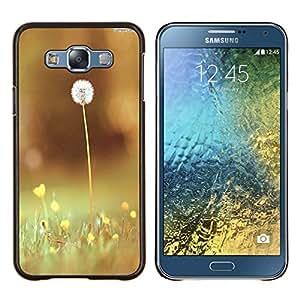 - Dandelion - - Cubierta del caso de impacto con el patr??n Art Designs FOR Samsung Galaxy E7 E7000 Queen Pattern