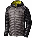 Mountain Hardwear Ghost Whisperer Down Hooded Jacket - Men's Manta Grey/Shark Large