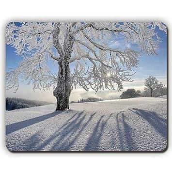 Cojín de ratón, Escarcha del árbol Sombras de la Nieve Ramas ...