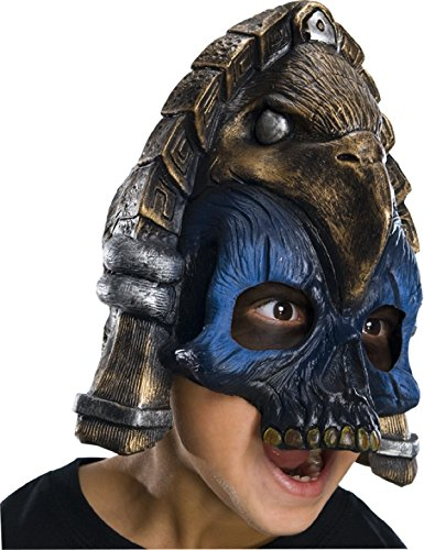 [Rubie's Costume Child's Mayan Warrior Chinless Horror Mask] (Horror Costumes For Kids)
