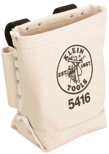 Canvas Tool Bag, Small Bag for Bolt Storage with Bull Pin Loops, Works as Waist Pouch Klein Tools 5416