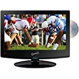 Supersonic SC-1512 LED HDTV 15 Black W/Built-in DVD Player USB & Dual Tuner Consumer Electronics