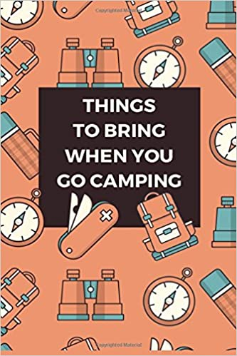 amazon things to bring when you go camping list journal blank