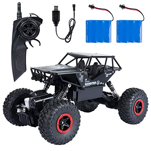 ANTAPRCIS RC Car Buggy Crawler Truck for Kids Boy, 2.4Ghz 4WD High Speed 1:14 Radio Remote Control Racing Rock Electric Fast Race Buggy Hobby Car, Black