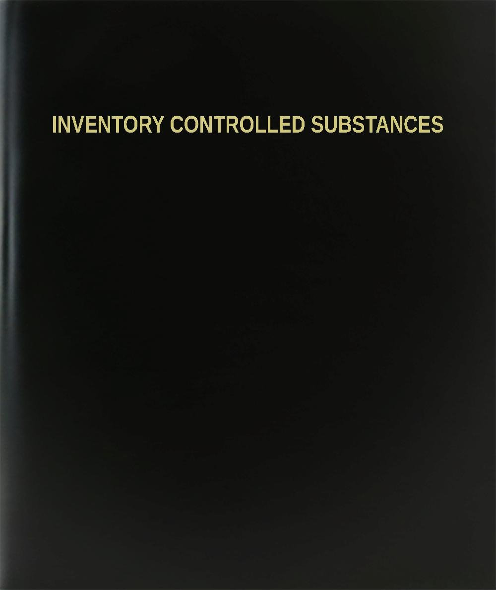 BookFactory® Inventory Controlled Substances Log Book / Journal / Logbook - 120 Page, 8.5''x11'', Black Hardbound (XLog-120-7CS-A-L-Black(Inventory Controlled Substances Log Book))