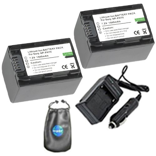Amsahr S-NPFH70-2CT Digital Replacement Battery PLUS Batt...