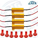 4PCS ARTR 50W 6ohm Load Resistors - Fix LED Bulb Fast Hyper Flash Turn Signal Blink Error Code(Resistor gets very hot during working)