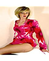 Sheer Floral Print Kaftan in Pink. womens beachwear   Swimwear   sarongs