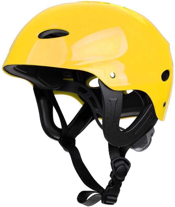 Amarillo Sandis Casco Protector de Seguridad 11 Agujeros de Respiraci/ón para Deportes Acu/áticos Kayac Canoa Tabla de Surf Paleta