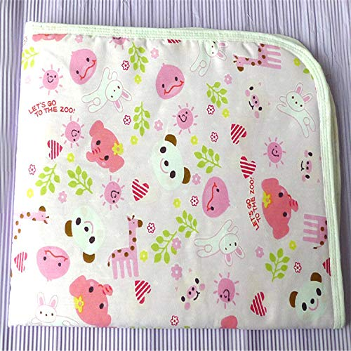 VT BigHome Newborn Infant Baby Bedding Kids Waterproof Nappy Blanket Cartoon Animal Mats Baby Cotton Changing Cover Swaddle Bath Towel