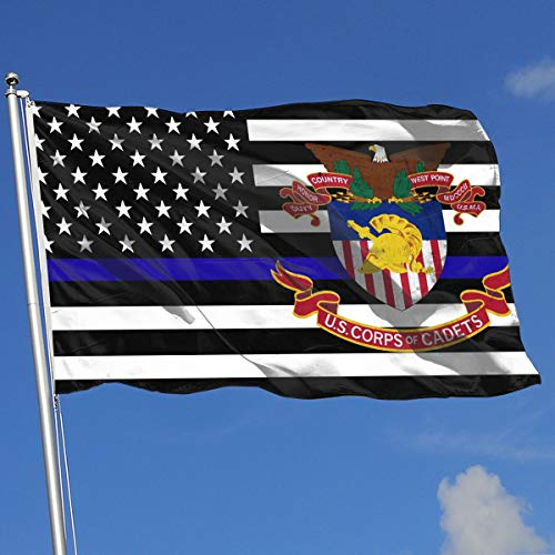 (Thin Blue Line US Army United States Corps of Cadet Flag 3x5-Flags 90x150CM-Banner 3'x5' FT)