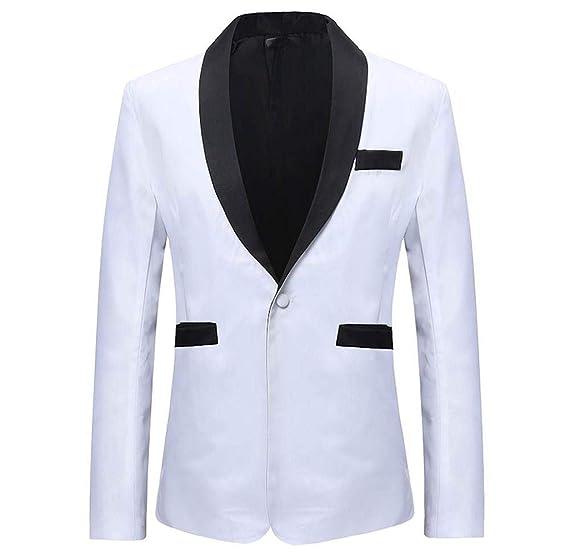 best service 5d541 ad203 Amcool Herren Double Color Schwarz Weiß Blazer Anzug Jacke ...