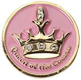 Navika Golf Ball Marker & Hat/Visor Clip - Queen of the Course - PINK