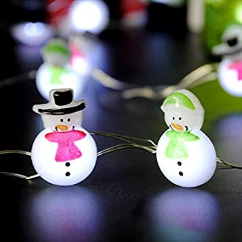 winter decorating string lights impress life snowman couple lights 10 ft copper wire 40 leds