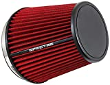 Spectre Performance HPR9892 Universal Clamp-On Air Filter: Round Tapered; 6 in (152 mm) Flange ID; 7 in (178 mm) Height; 7.313 in (186 mm) Base; 5.125 in (130 mm) Top