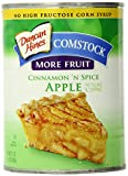 Comstock More Fruit Pie Filling & Topping, Cinnamon 'N Spice Apple, 21 Ounce (Pack of 12)