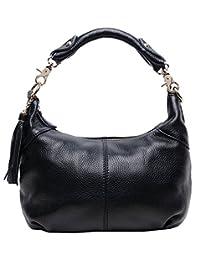 Greeniris Ladies High quality Soft Genuine Leather Handbags Shoulder Bag Classic Leather Handbags for Women